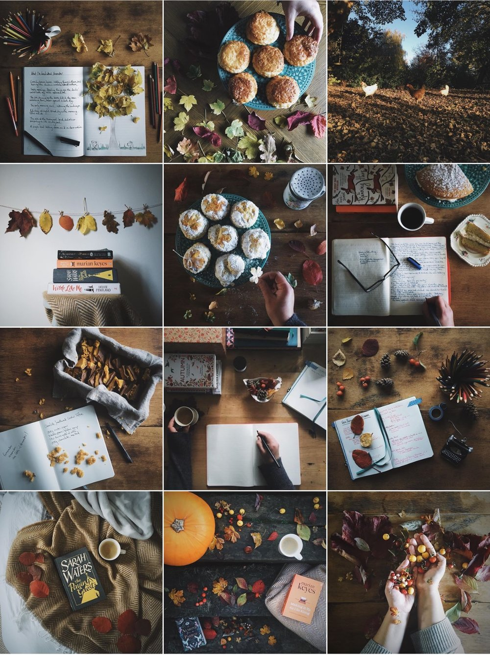 a bookish baker Instagram feed
