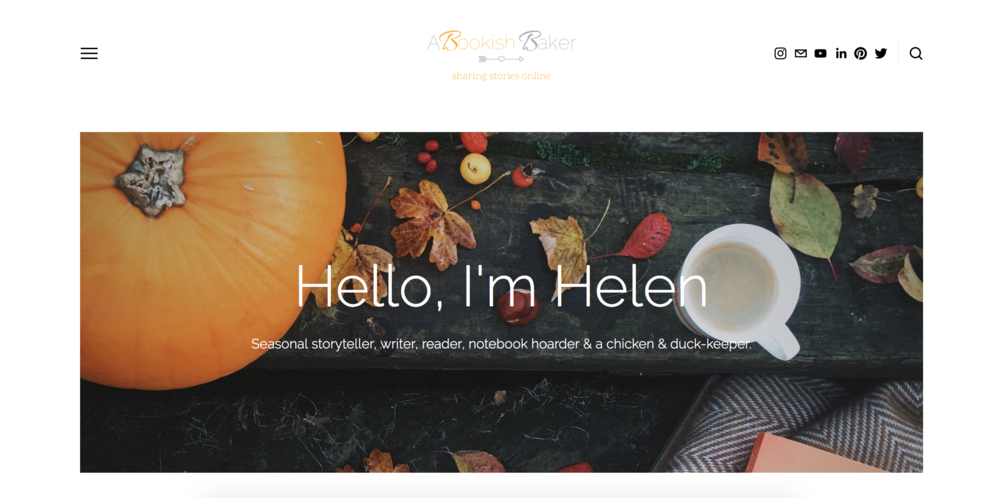 autumn website a bookish baker