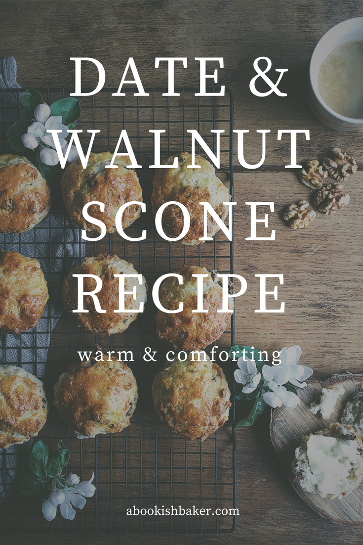 The gentle comfort of a date & walnut scone - a recipe by A Bookish Baker