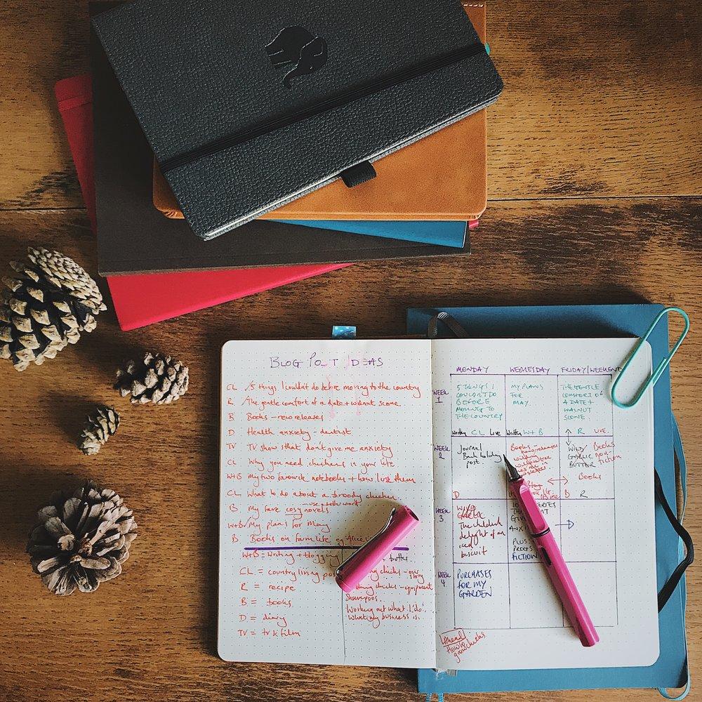 lemome notebook for planning blog posts