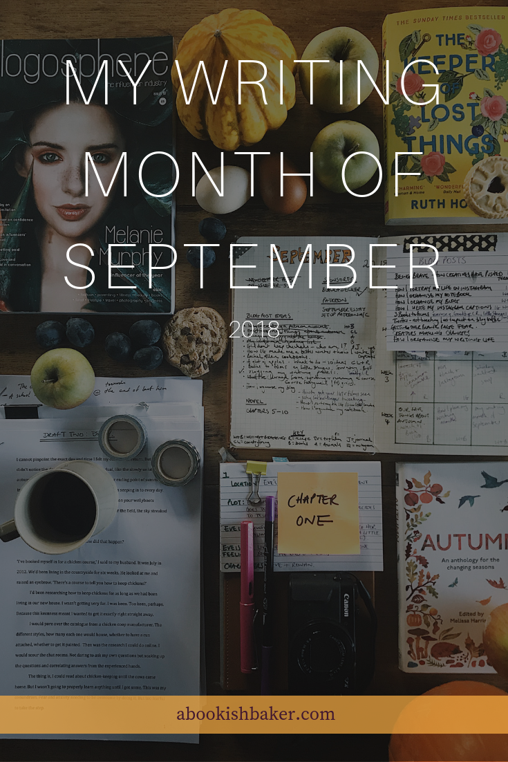 my writing month of September