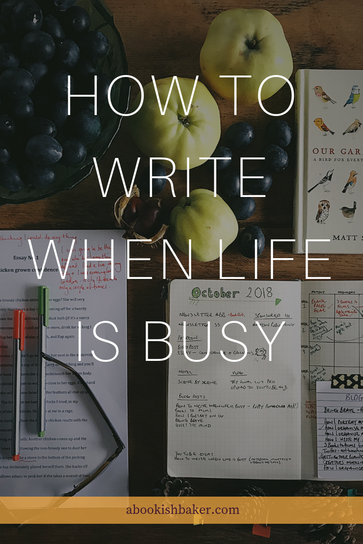 How to write when life is busy