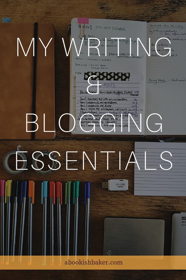 My writing & blogging essentials