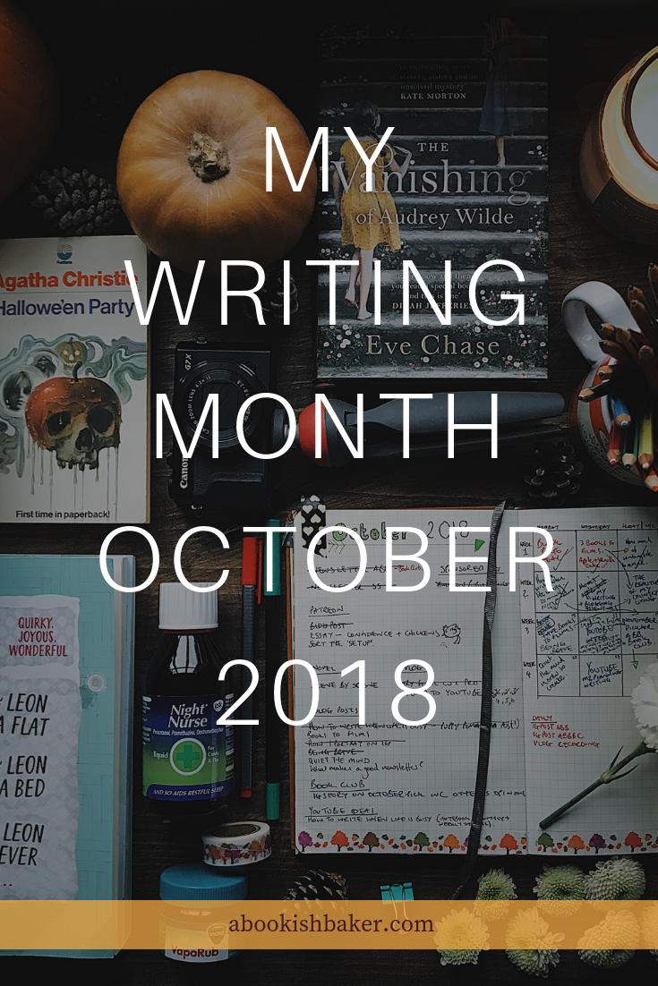 My writing month October 2018