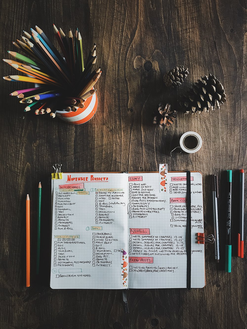 PLAN WITH ME | November 2018 | Planning for writing, creativity & productivity