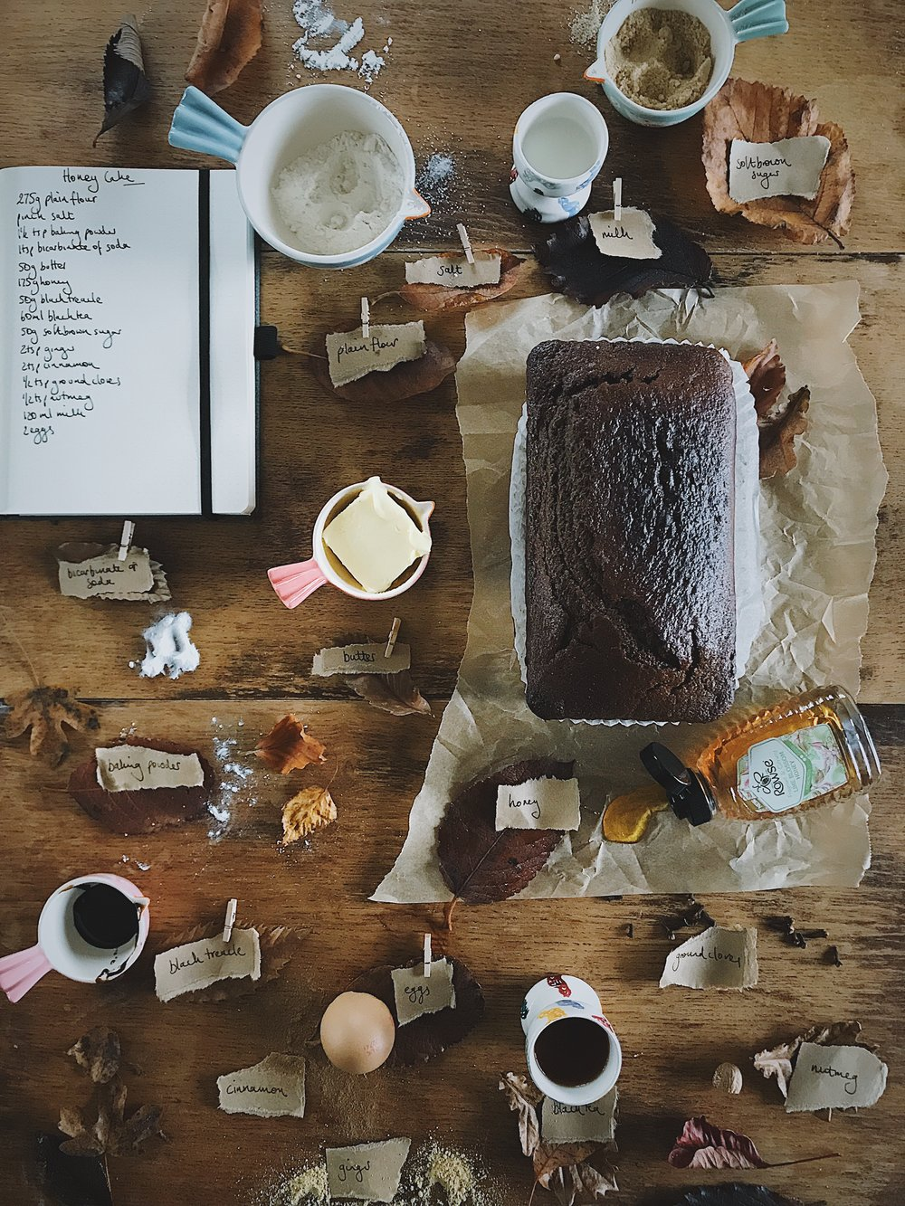 gently spiced honey cake