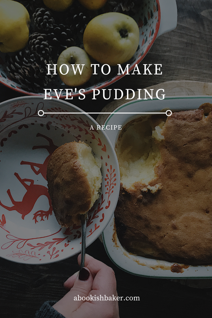 How to make Eve's Pudding. A recipe for gently cooked apples covered in a sponge topping. A cosy pudding for the winter months.