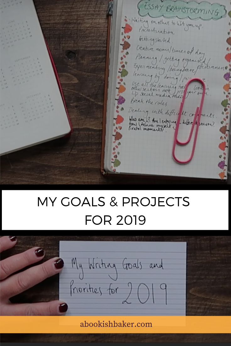 My goals and projects for 2019. How I'm getting my projects aligned with my biggest goal.