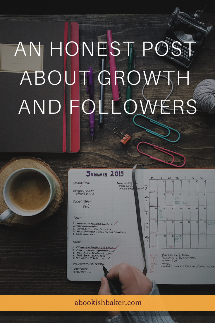 An honest post about growth and followers and how it affects me even when the importance of them aren't in my long term planning