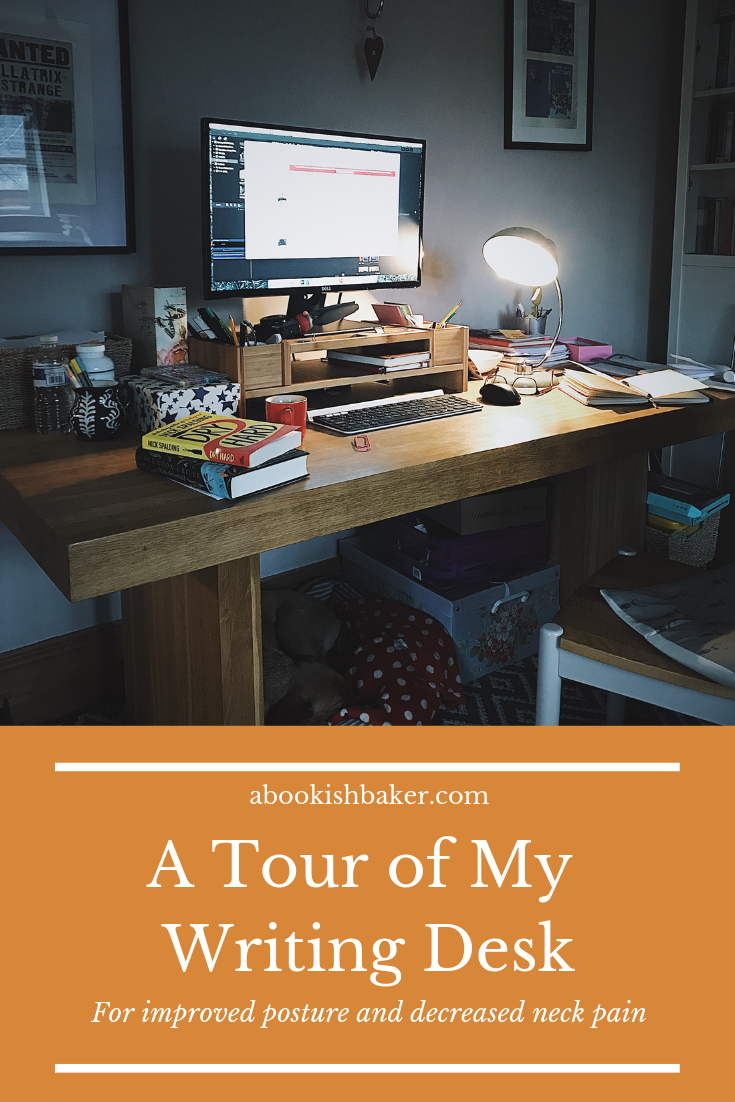 A Tour of My Writing Desk for improved posture and decreased neck pain