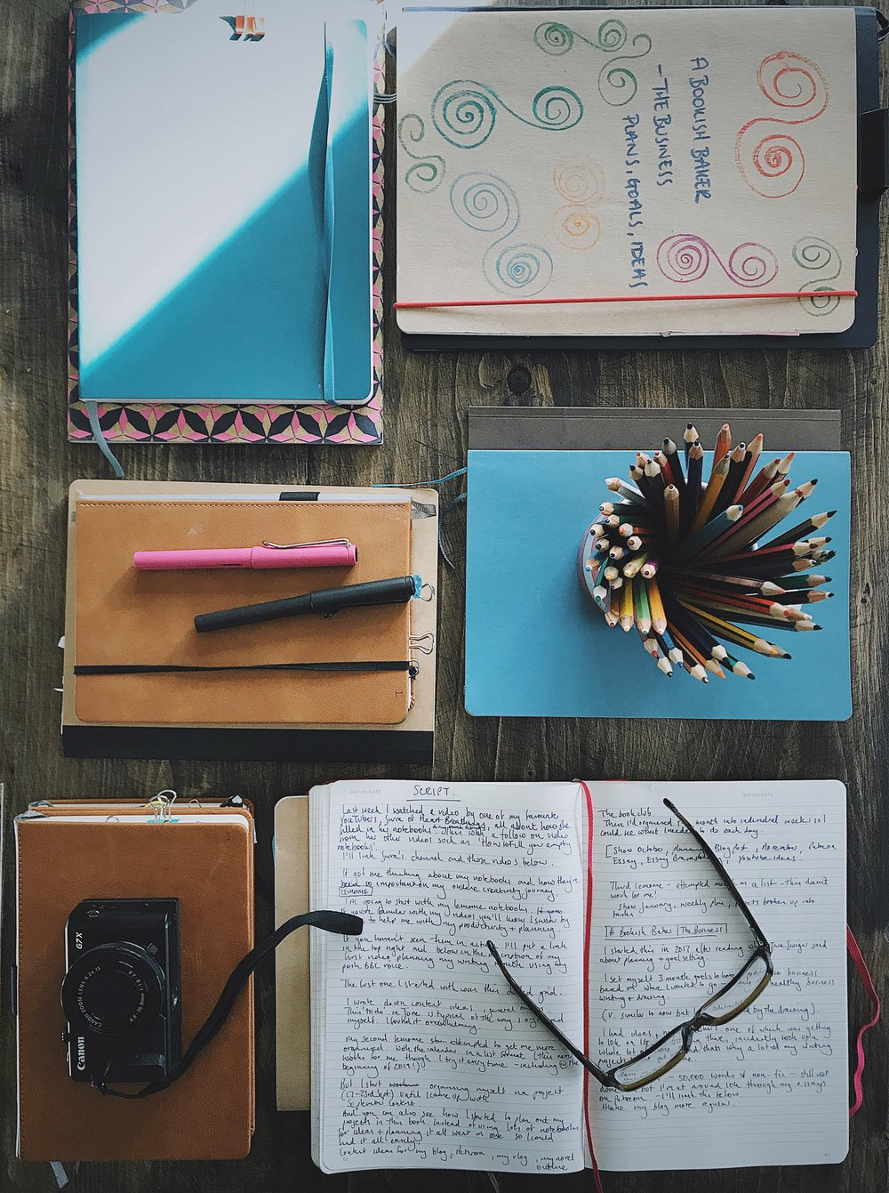 how I use my notebooks as a writer and creative