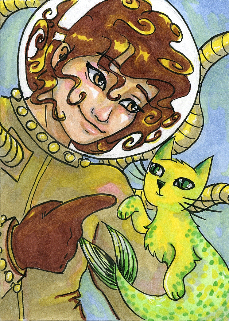 Golden Summer Steampunk_ A Girl and her Catfish_Anna Van Skike with AnnaVSart.com.JPG