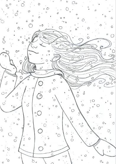 Happy Winter Days by Anna Van Skike with Annavsart.com