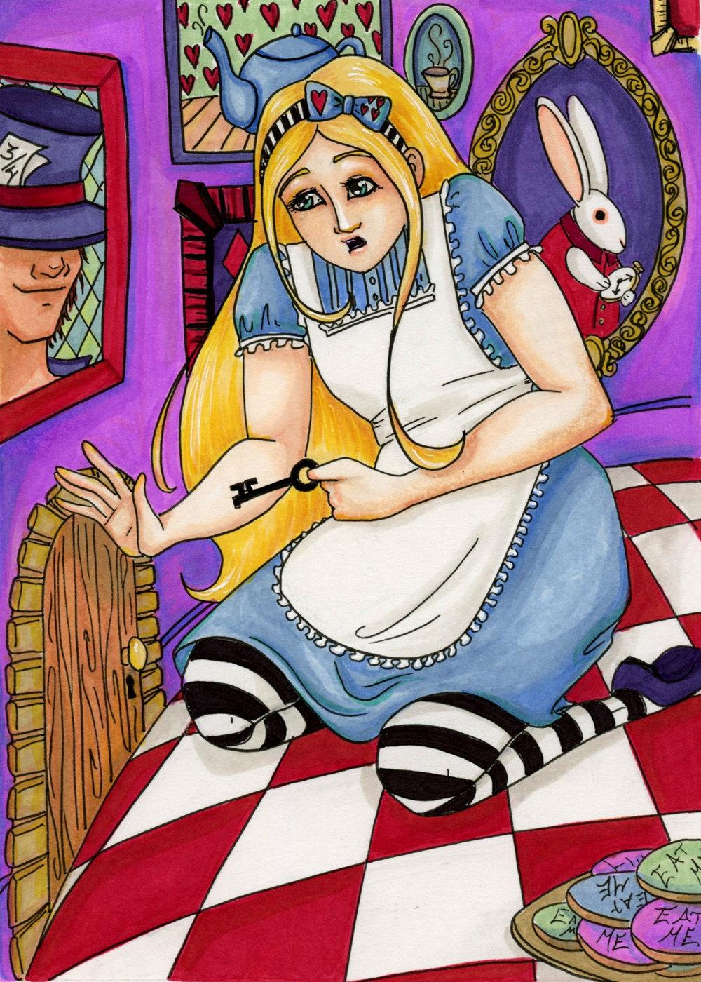 Alice in Wonderland Tiny Door by Anna Van Skike with AnnaVSart