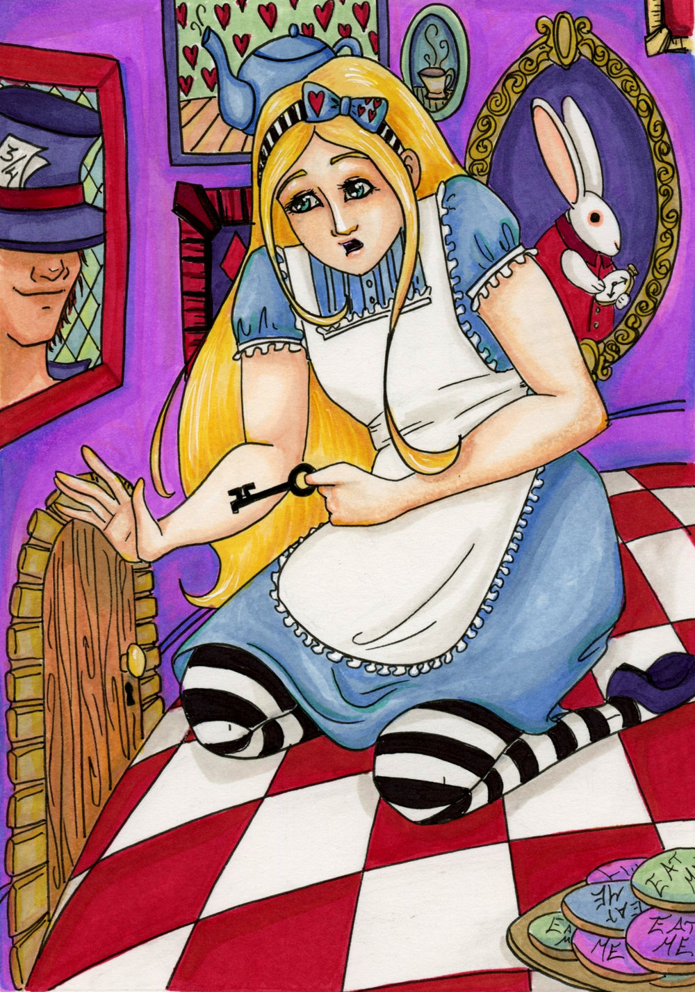 Alice in Wonderland Tiny Door by Anna Van Skike