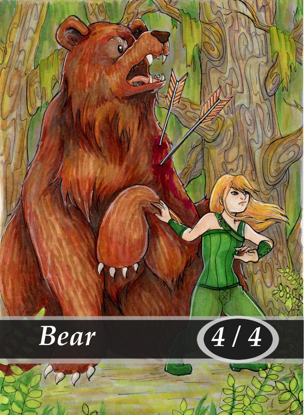 Bear Magic the Gathering MTG Token by Anna Van Skike with AnnaVSart