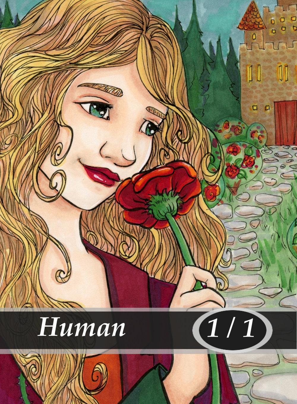 Human Magic the Gathering MTG Token by Anna Van Skike with AnnaVSart