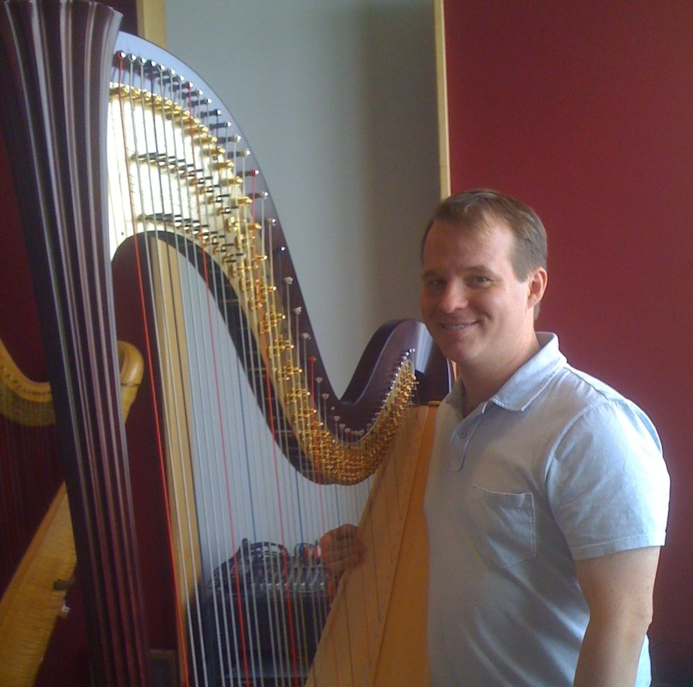 Jeremy Chesman - Dr. Jeremy Chesman has been playing the harp since high school. He studied at the University of Michigan with Lynne Aspnes and at the Camden Harp Colony with Alice Chalifoux. He holds the Doctor of Musical Arts Degree and is a professor at Missouri State. In addition to this, he has extensive training in Suzuki Harp teaching. Recent invitations to teach have taken him to Europe, Australia, and across the United States.