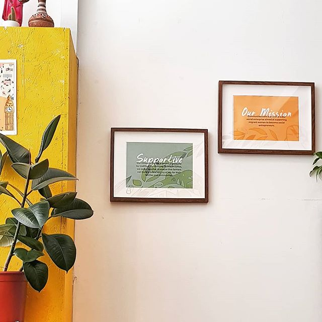 We're slowly getting better at telling people more about our ideas, our food, ethos, social mission, and more!  If you're curious about what we do, you can catch our new frames in the cafe 💛 🖼️ 🥕