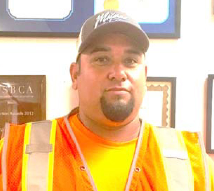 ROBERT VALADEZ PROJECT FOREMAN Robert has been with Kenney Construction, Inc. for the last 17 years. With over 20 years in the construction industry, he prides himself on his flatwork and foundation skills.
