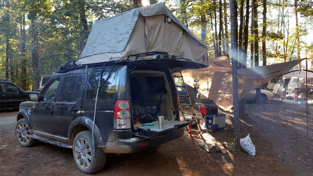 Land-Rover-LR3-c&ers-tent-edition-roof-rack- & Land Rover LR3 Campers Edition Roof Rack u2014 Voyager Racks