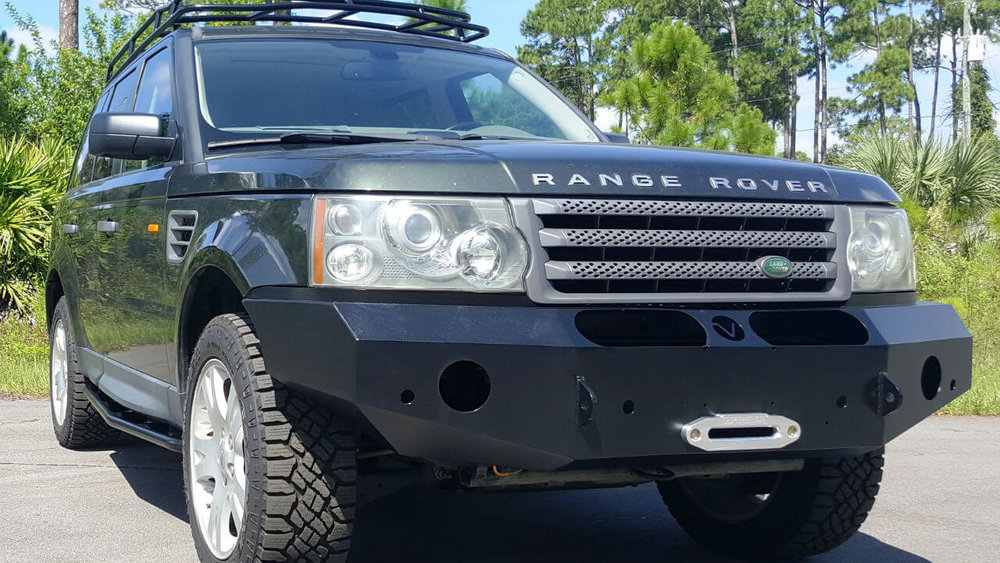 Land-Rover-Range-Rover-Sport-voyager-front-winch-bumper-rock-sliders-Voyager-Offroad