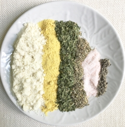 Dry ingredients competitively laid out