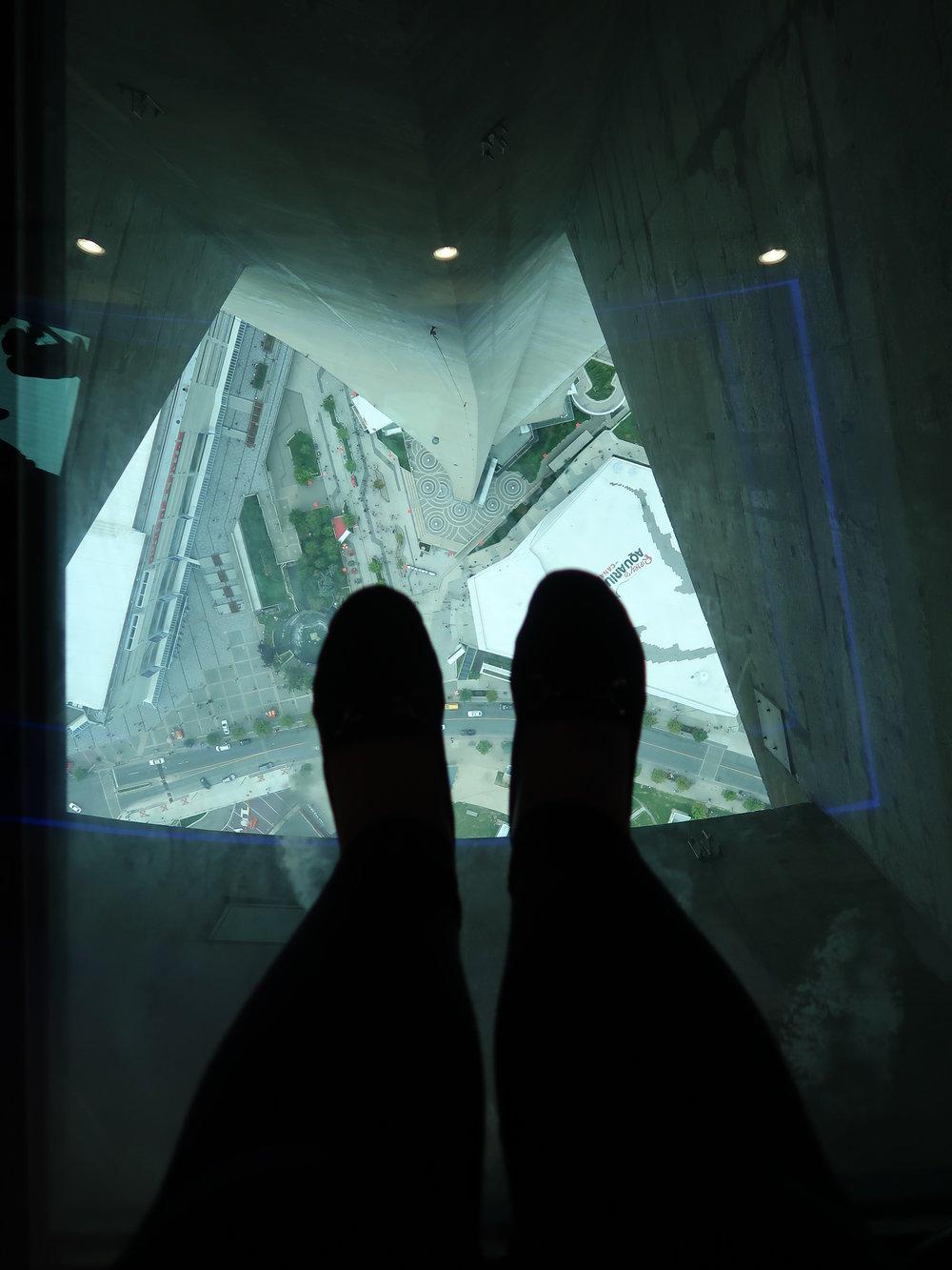 CN Tower glass floor