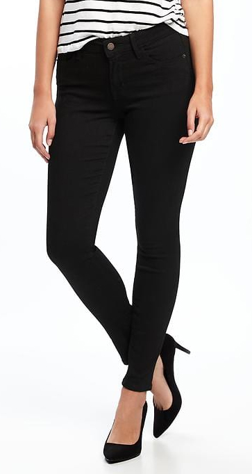 Mid-Rise Black Rockstar Super Skinny Jeans