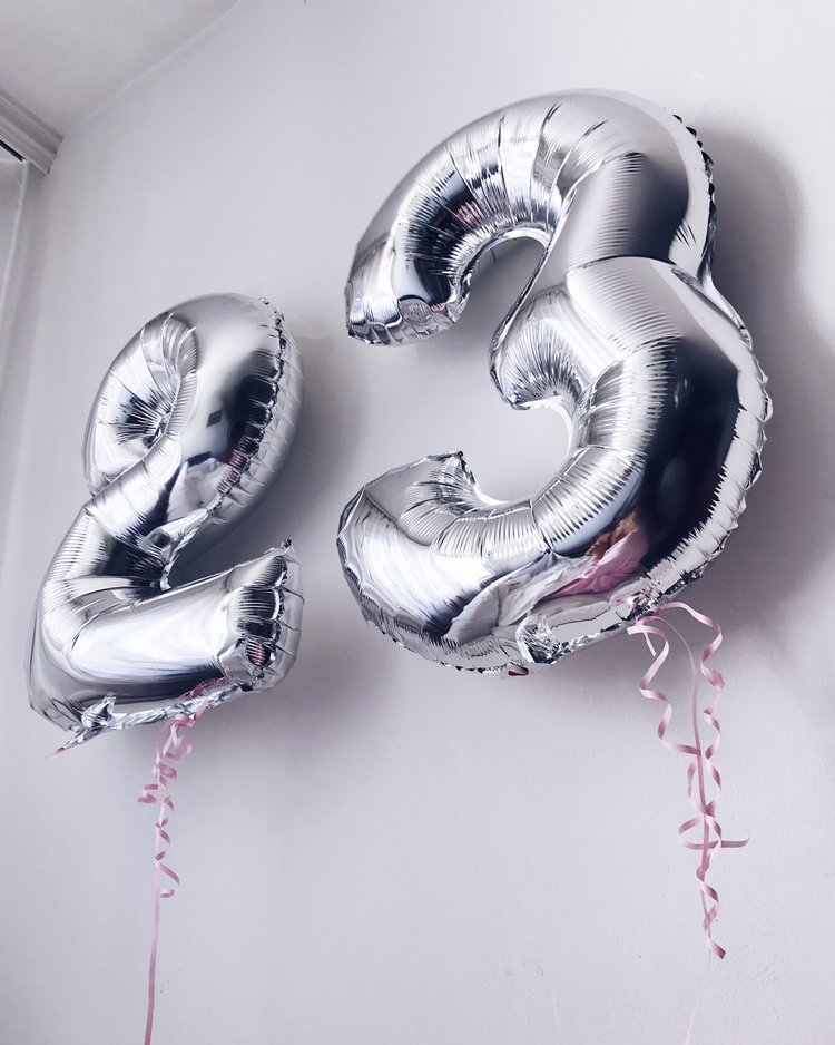 Birthday Present Presents Gift Gifts Bday Girl Blog Blogger Balloon Balloons 23rd Fashion Style Clothes