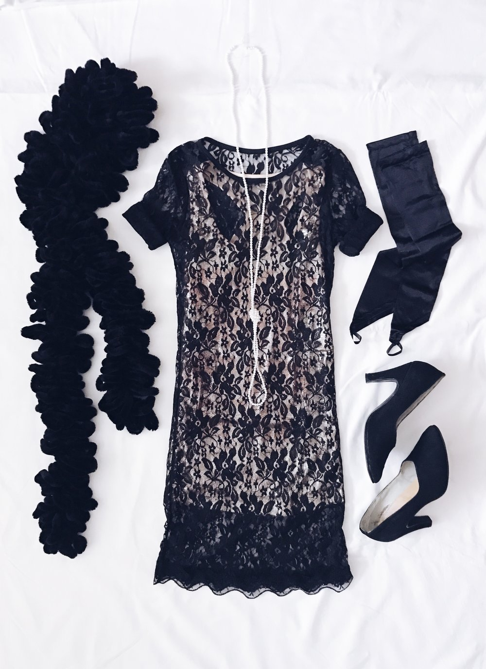 Lace dress: Shein  Seqined top: Terranova style