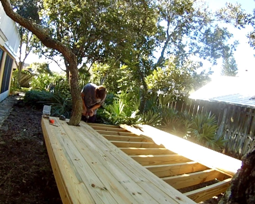 kids treehouse decking