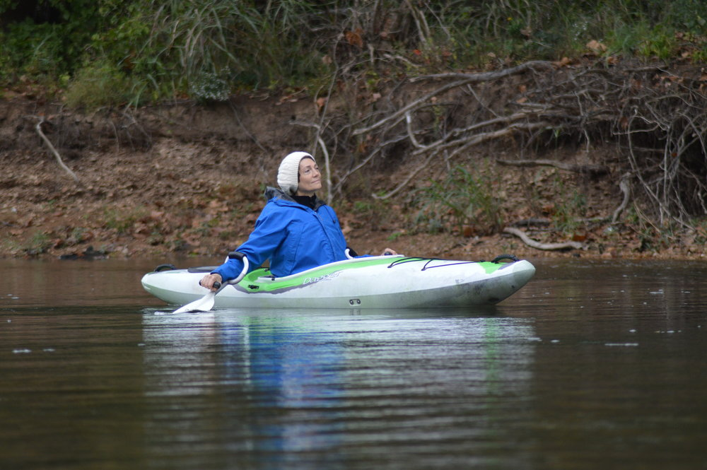 Ozarks Water Watch's Ronna Haxby enjoys a moment of solitude.