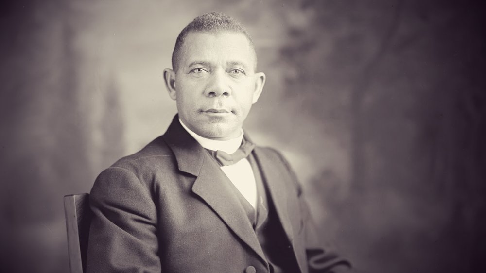 Booker T. Washington, one of the GREATS ™ .  As a former slave, he walked hundreds of miles, slept under sidewalks, waited tables, and cleaned floors to earn enough money for his tuition.  He eventually graduated from Hampton University and founded Tuskegee University where he became the university's first president.  Tuskegee University is today ranked as the fifth best Historically Black College and University serving over 3,000 undergraduate and graduate students.