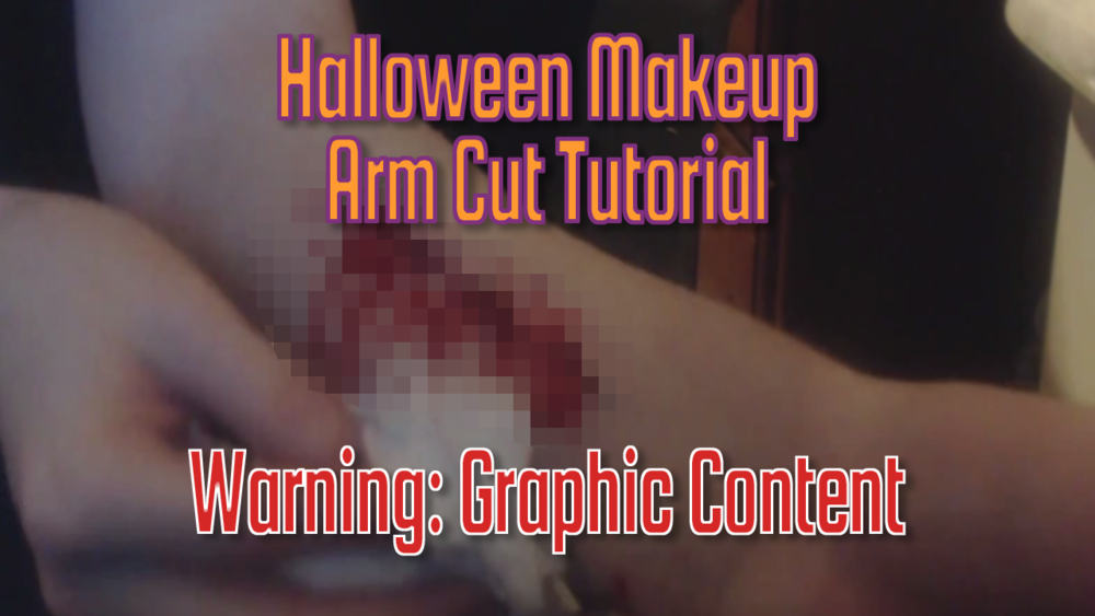 - This is a tutorial on how to make a simple arm cut for Halloween.