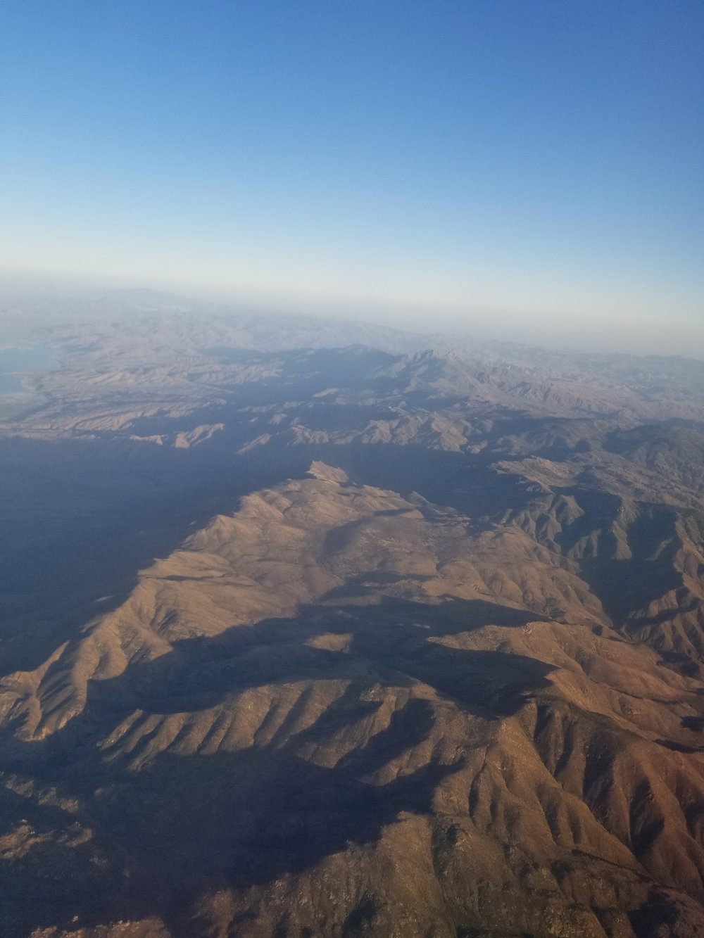 View of the mountains from the plane on our way to Seattle....via Phoenix!