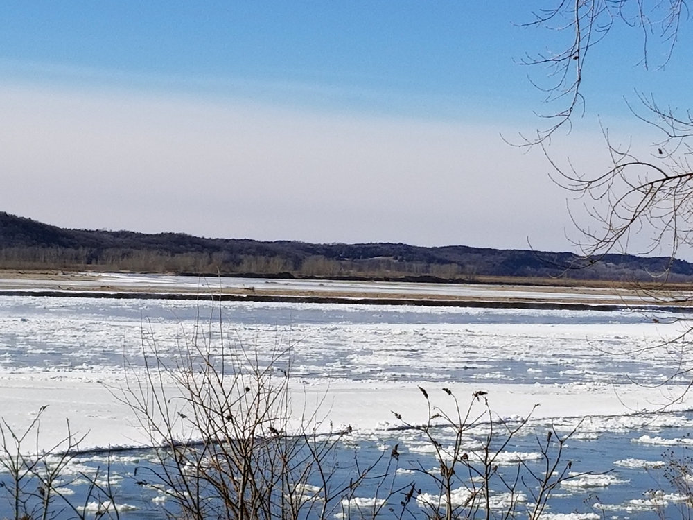 Missouri River, Burbank, SD, January 30, 2019