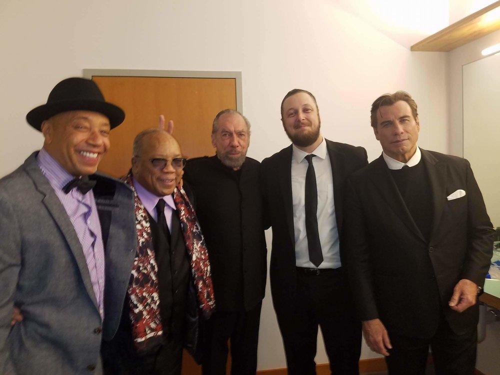 Mark, Russel Simmons, Quincy Jones, and John Travolta (2017)