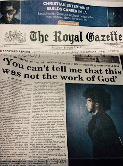 Gianluca featured Royal Gazette