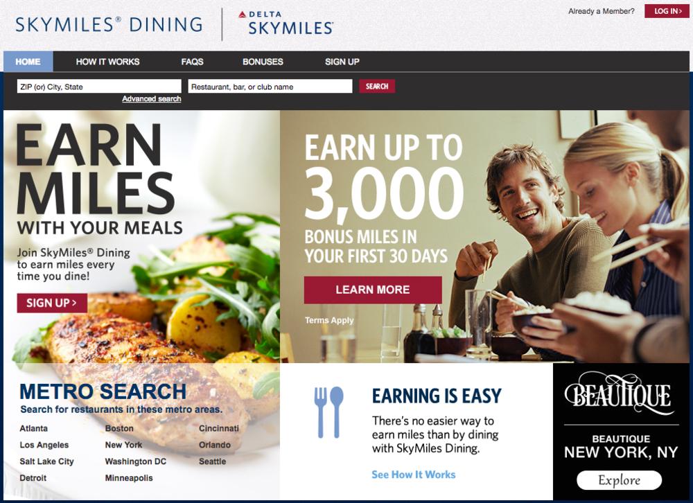 Delta SkyMiles Dining