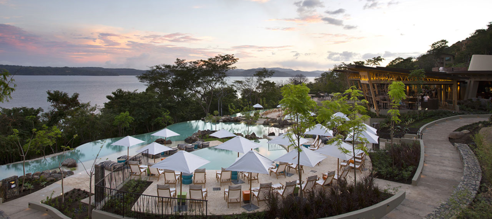 OVERLOOKING THE BAY AND SURROUNDED BY RAINFOREST, YOU'LL FEEL AS IF YOU'RE IN YOUR OWN PRIVATE RETREAT. IMAGE COURTESY OF THE  ANDAZ PAPAGAYO