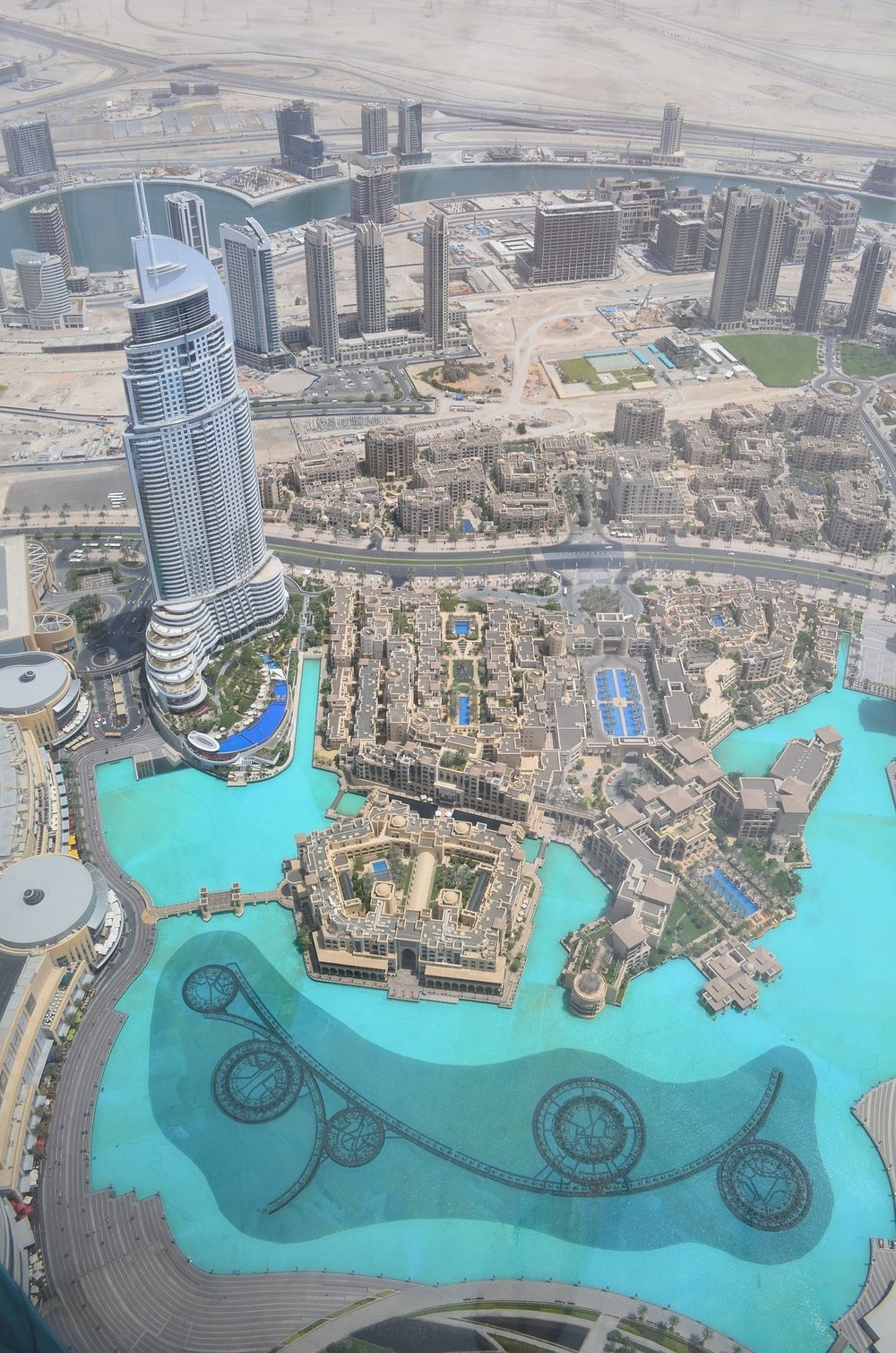 View from the top of the Burj Khalifa building