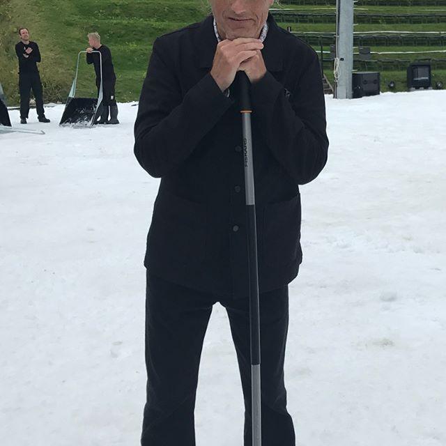 Finally the snow came to Denmark in the middle of August! Premiere of La Bohème at Opera Hedeland. #Hamida Kristoffersen #Adam Frandsen #Elisabeth Meyer #Aleksander Nohr #Andreas Frantzén #Jacob Vad #Jacob Blok #Lars Rudolfsson