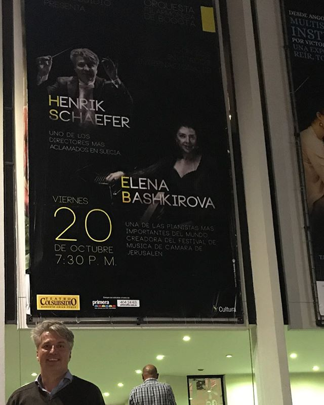I came across a small poster announcing this week's concert with Elena Bashkirova...