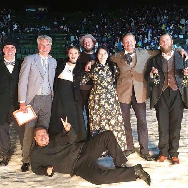 After the last performance of La Bohème... #jakobblochjespersen #elisabethmeyer #hamidakristoffersen #aleksandernohr #jakobvad #andreasfrantzén #adamfrandsen