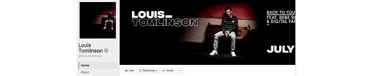 Facebook:  Louis.Tomlinson