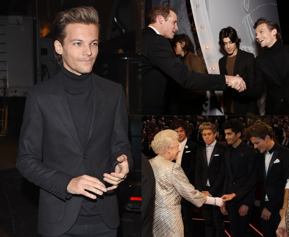 Louis Tomlinson at the 2014 and 2012 Royal Variety  Performances .