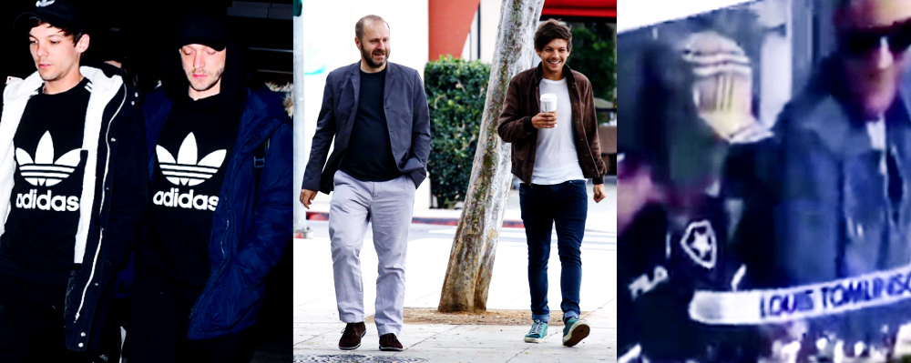 (Left) Louis and Russell Eslamifar, (Middle) Martin Hall and Louis, (Right) Oli, Louis, and Jasper.