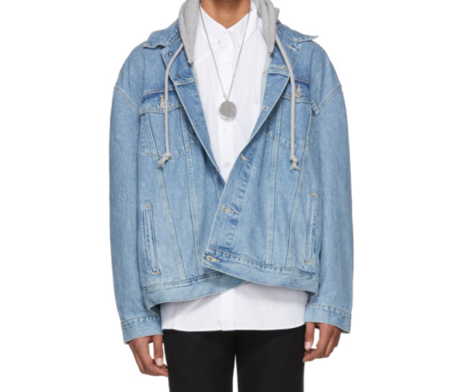 Blue Levi's Edition Oversized Hooded Denim Jacket  | Vetements | $2,150