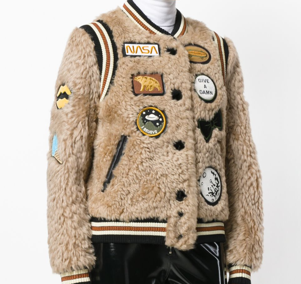 Shearling Varsity Jacket With Patches  | Coach | $2,688